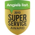 """Angie's List Super Service Award 2013"""