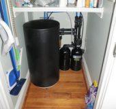 softener in closet